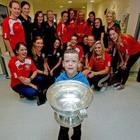 All smiles as camogie champs Cork visit Our Lady's Children's Hospital in Crumlin