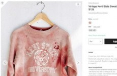 Urban Outfitters apologises and removes blood-spattered sweatshirt from sale after criticism
