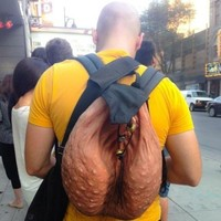 This scrotum-shaped backpack is utterly horrifying