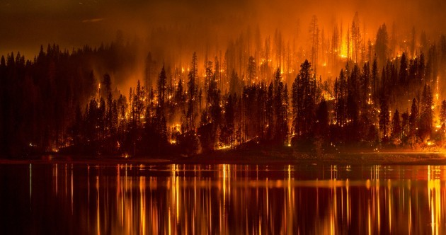 In pictures: Raging wildfires engulf homes in California