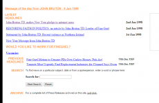 Check out the Fine Gael website in 1998 and John Bruton talking about 'surfing the internet'