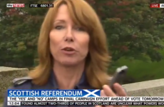 "Kay Burley caught calling Scottish campaigner a ""knob"" on Sky News"