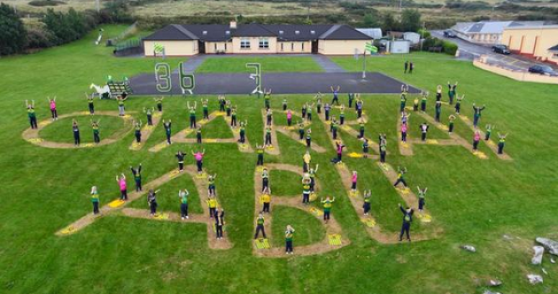 Snapshot - Brilliant pic from West Kerry school supporting the Kingdom's All-Ireland bid