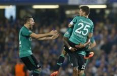 Schalke got a point at Stamford Bridge after this Klaas-Jan Huntelaar goal