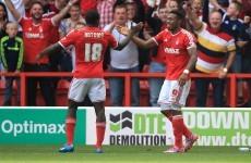 Nottingham Forest's Michail Antonio scores a goal worthy of Dennis Bergkamp