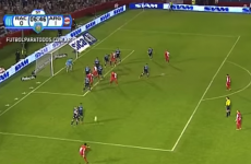 Juan Roman Riquelme curled in another majestic free-kick last night