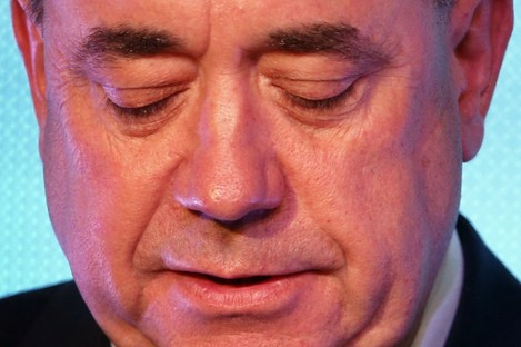 Alex Salmond speaking after defeat in the Scottish independence referendum overnight.