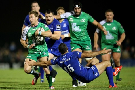 Marmion breaks past Rob Kearney for his second-half try.