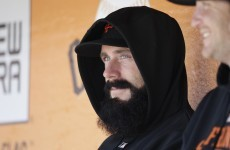 MLB star takes a moment...