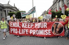 Gallery: Pro-Life and Pro-Choice groups march in Dublin