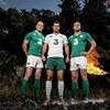 Ireland's new Canterbury home kit features a retro white collar