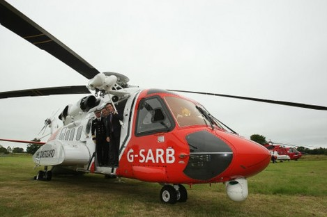 One of the Irish Coast Guard's Sikorsky helicopters as launched by then-Transport Minister Noel Dempsey this time last year