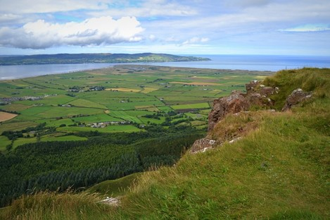 The cliffs near the summit of Binevenagh Mountain in Co. Derry
