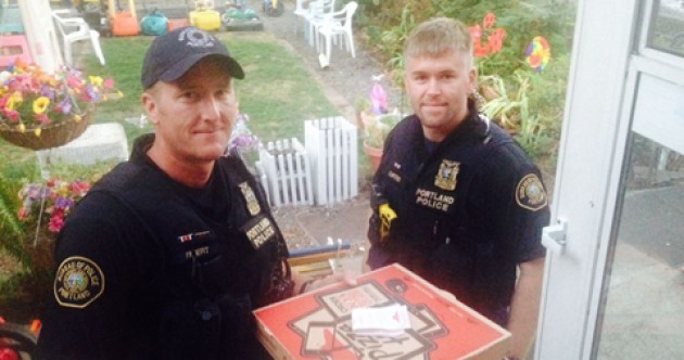 Soundest police ever complete pizza delivery after driver is hurt in accident