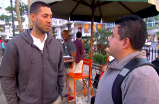 Clint Dempsey stops some people on the street to ask for their thoughts on Clint Dempsey
