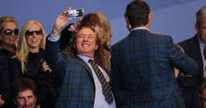 Miguel Angel Jimenez is having a blast at the Ryder Cup opening ceremony
