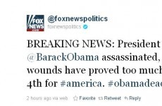 Fox News's hacked Twitter feed kills Obama