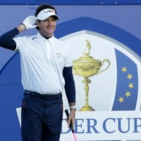 Bubba Watson whipped the crowd into a frenzy this morning