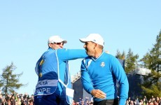 Sergio Garcia's high fives aren't on a par with his golf shots