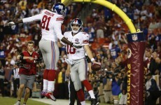 Manning throws 4 TDs, Cousins throws 4 INTs as Giants trounce Washington