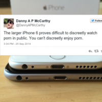 People are actually complaining that the iPhone 6 is 'too big to watch porn discreetly'