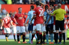 Nervy Man United hold out against Hammers after Rooney dismissal