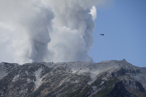 Mount Ontake continues to erupt.