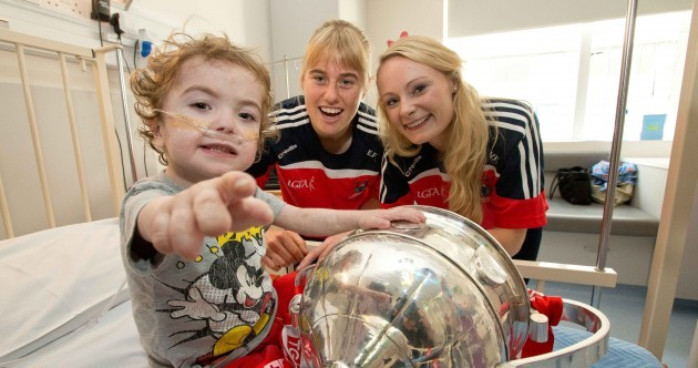 Snapshot - All-Ireland champions Cork visited Crumlin Children's Hospital today