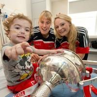Snapshot - All-Ireland champions Cork visited Crumlin Children's Hospital today