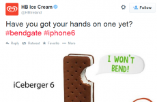 HB Ice Cream sends tweet dissing the iPhone 6