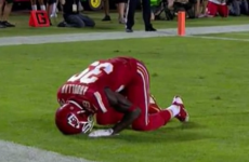 NFL player penalised after celebrating touchdown with a prayer