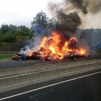 M50 reopened after dramatic truck fire brought under control