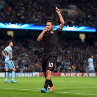 Here's the tweet that inspired Francesco Totti against Man City last night