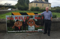 This Labour senator wants his poster of bride and groom haybales back
