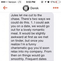 This has to be the most intense Tinder message of all time