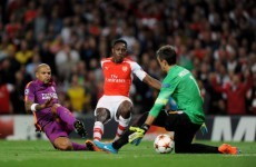 Danny Welbeck scored a hat-trick for Arsenal tonight