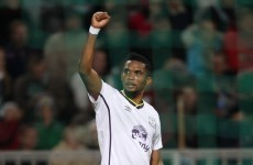 Eto'o rescues point for Everton in Russia