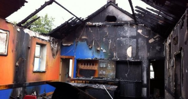 Another Orange Hall has been destroyed by a fire in Co Donegal