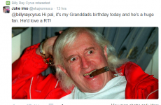 Billy Ray Cyrus retweeted a photo of 'fan' Jimmy Savile in unfortunate Twitter prank