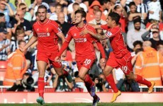 Liverpool beat the Baggies to get back to winning ways