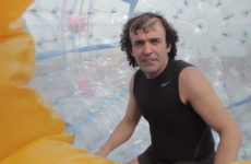 "Peace activist rescued after attempting to cross Caribbean in ""hamster wheel"""
