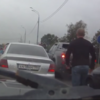 Russian road rage attempt fails miserably