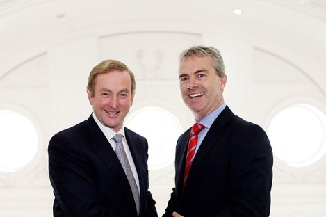 Taoiseach Enda Kenny and SmartInvest chief executive Gerry Moan