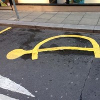 Is this a parking space for turtles on a Dublin street?