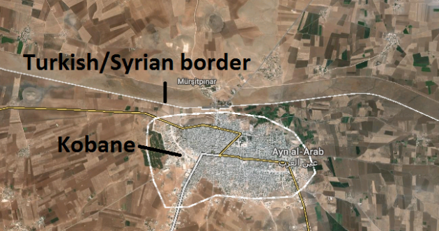 This is how close ISIS is to crossing into Turkey