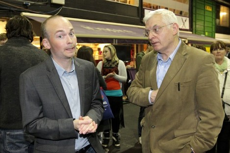 Socialist Party by-election candidate Paul Murphy and TD Joe Higgins (File photo)