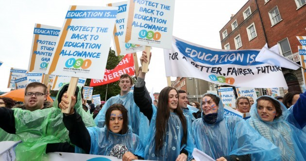 'No ifs, no buts, no education cuts' - thousands of students march on Leinster House