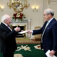 Ireland's new US Ambassador met the President today
