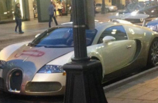 Someone spray painted a penis on a €1.9m Bugatti Veyron