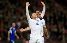 England score 5 in second gear as Rooney nears record